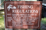 Posted Fishing Regulations at Kingsport Reservoir