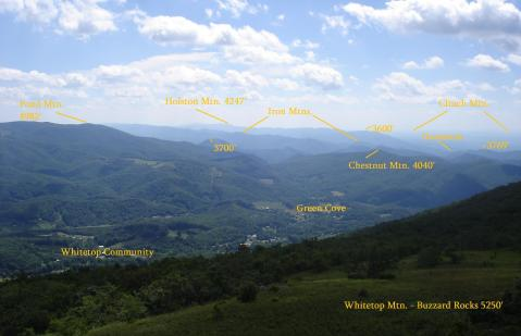 Click to Enlarge. View from Buzzard Rock, courtesy Eric Thiessen, AbingdonOutdoors.com.