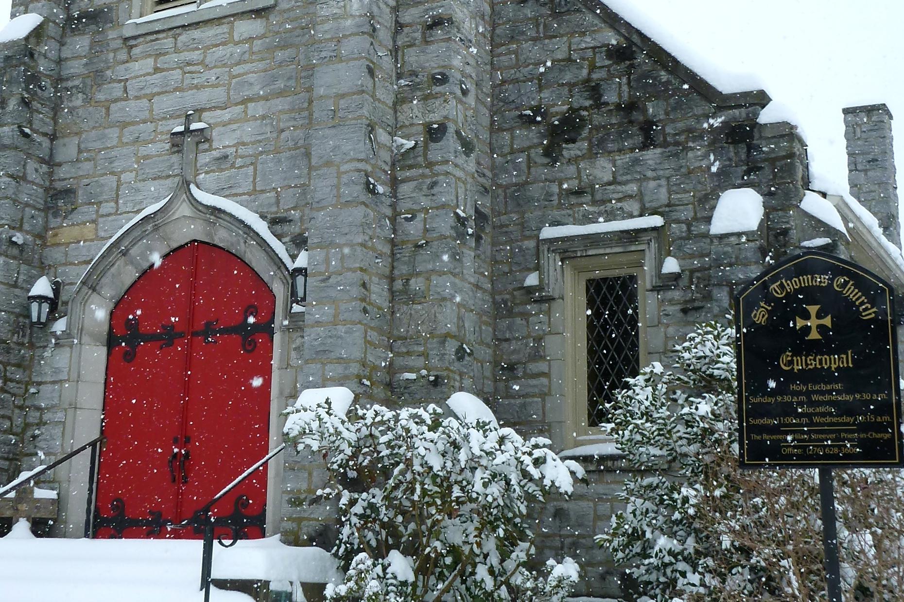 Red Episcopal Doors