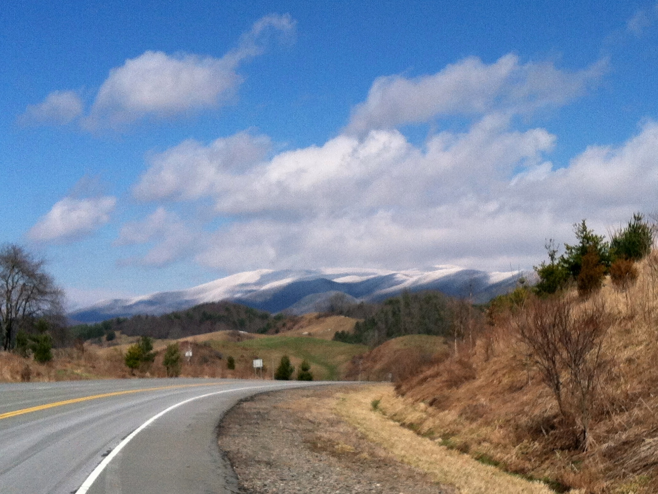 View of Pond Mountain from Route 91 Between Mountain City and Laurel Bloomery, Tennessee, March 30, 2014