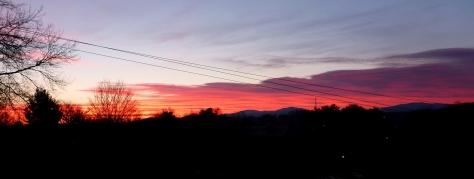 March 31, 2014 Sunrise over Abingdon, Virginia