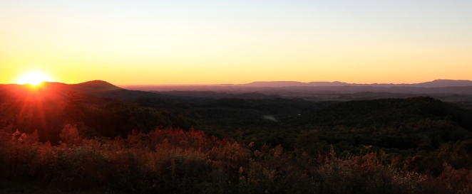 10.18.15 Clinch Mountain Sunset 2